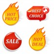 Sale Labels — Stock Vector #6708551