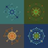 Four compass — Stock Vector