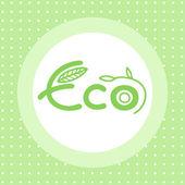 Eco emblem — Stock Vector