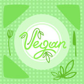 Vegan dish — Stock Vector