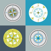Compasses decorative series — Stock Vector