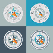 Compasses decorative series arrow — Stock Vector