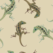 Pattern bulky lizard on a background color — Stock Vector