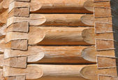 Wall of the wooden house — Stock Photo