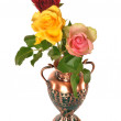 Three roses in vase — Stock Photo #22163805