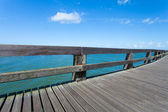 Pontoon jetty of courseulles sur mer in Normandy — Stock Photo