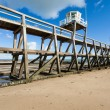 Jetty pontoon luc sur mer - Stockfoto