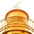 Stock Photo: Old lighthouse yellow metal