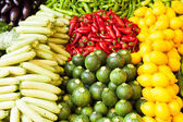 Vegetable stall at the market — Stock Photo
