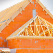 Brick house under construction — Stock Photo #31833773
