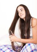 Kadın fırça — Stok fotoğraf