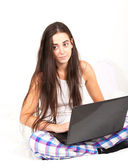 Student with laptop — Stock Photo