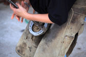 Farrier at work — Stock Photo