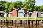 цветные деревянные дома — Стоковое фото