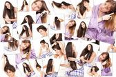 Women and their hair — Stock Photo