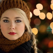 Winter portrait of a beautiful girl - Stock Photo