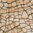 Cracked surface as texture — Stock Photo
