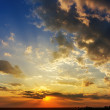 Good sunset with dramatic clouds - Stock Photo