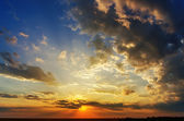 Good sunset with dramatic clouds — Stock Photo