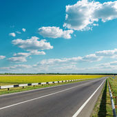 Asphalt road under cloudy sky — Stock Photo