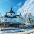 Old orthodox church in winter, Ukraine - Stock Photo