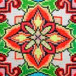Embroidered good by cross-stitch pattern — Stock Photo #19108561