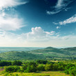 Beautiful green mountain landscape in Carpathians - Stock Photo