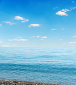 Blue sea and sky over it — Stock Photo