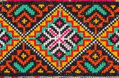 Haftowane dobre przez cross-stitch wzór — Zdjęcie stockowe