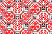 Seamless embroidered good like handmade cross-stitch ethnic Ukraine pattern — Stock Vector
