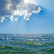 Cloud in blue sky over sea — Stock Photo