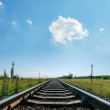 Cloud in blue sky over railroad — Stock Photo #39222471