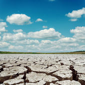 Drought earth and dramatic sky with clouds — Stock Photo