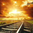 Dramatic sky and railroad — Stock Photo #41870101