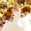 Beautiful bride outdoors portrait — Foto de Stock