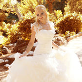 Beautiful bride outdoors portrait — Stock Photo