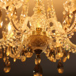 Royal Vintage crystal chandelier — Stock Photo
