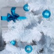 Xmas tree decoration, fur-tree decorated with New Year's toys — Stock Photo