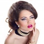 Glamourous closeup female portrait. Fashion evening elegance eye — Stock Photo #23342362