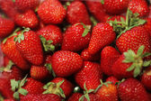 Fresh strawberry background - full frame — Stock Photo