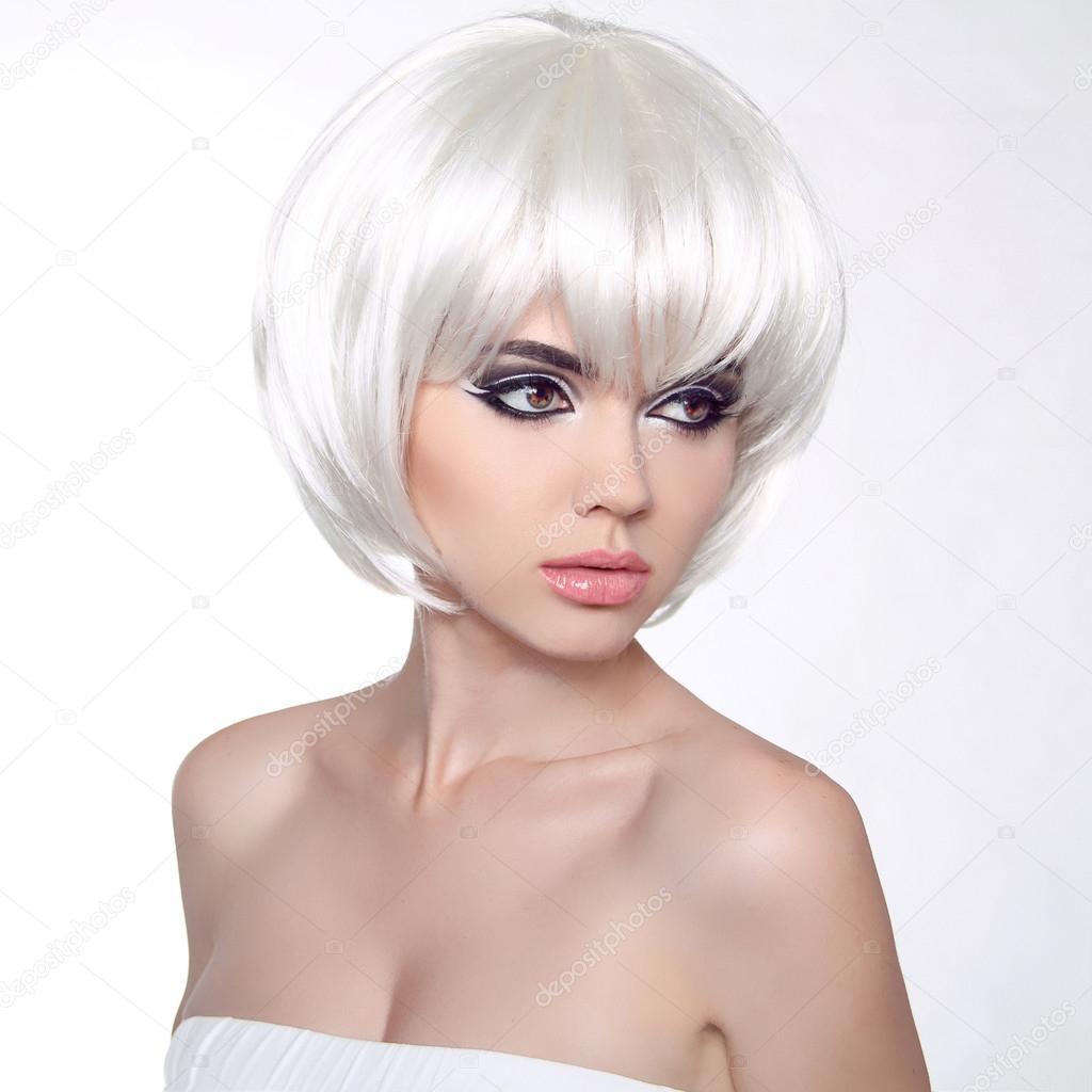 Фото стрижек с белыми волосами