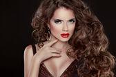 Beautiful hair, Fashion Woman Portrait. Beauty Model Girl with l — Stock Photo