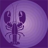Purple Lobster — Stock Vector