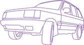 SUV blank — Stock Vector