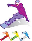 Snowboardåkare — Stockvektor