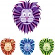 Baby lion head — Stock Vector