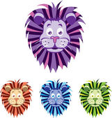 Baby lion head — Stock Vector