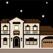 Stock Vector: Mansion night