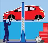 Auto shop — Stock Vector