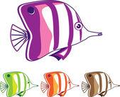 Schmetterlingsfische — Stockvektor